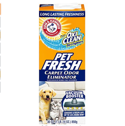 Pet fresh carpet odor eliminator