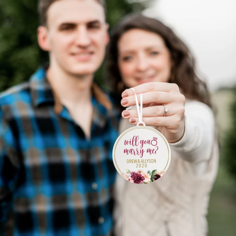 christmas proposal ornament