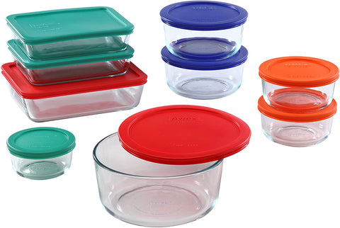 pyrex glass food container set