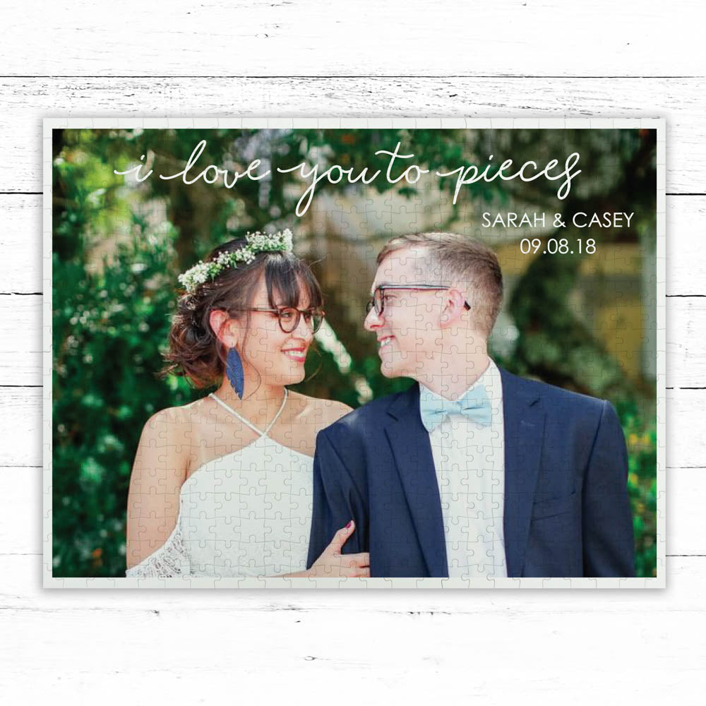 "Custom 500 Piece ""I Love You To Pieces"" Photo Puzzle"