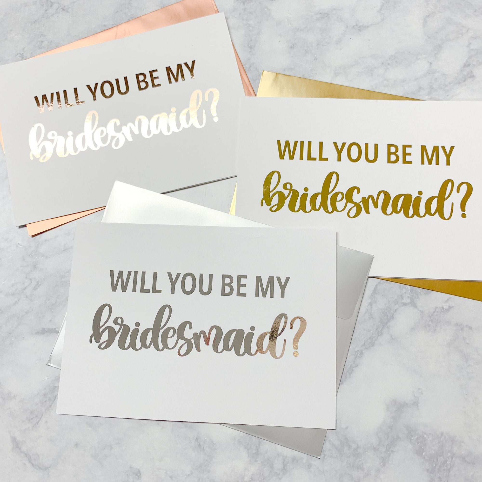 Bridal Party Proposal Foiled Card & Envelope