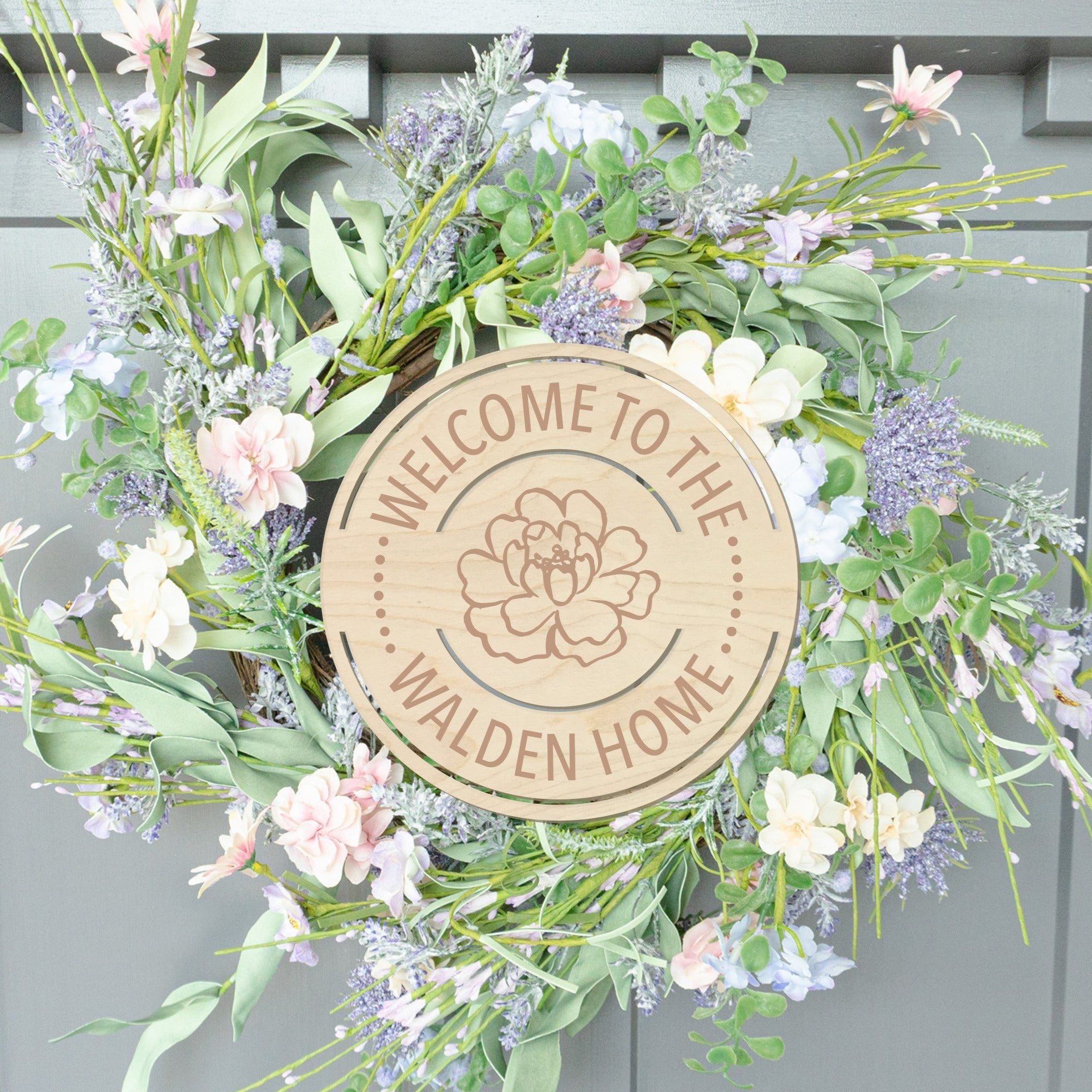 Personalized Welcome To Our Home Wood Front Door Sign
