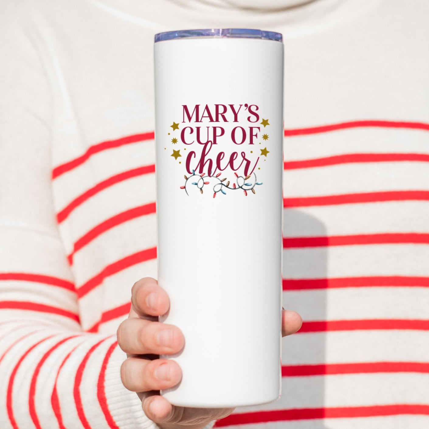 Personalized Cup of Cheer Tall Tumbler