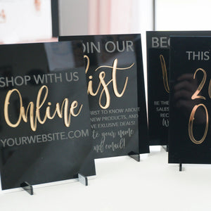 Customizable Acrylic Sign for Boutiques & Small Businesses