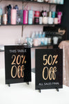 Discount Acrylic Sign for Boutiques & Small Businesses
