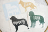 Custom Dog Name Vinyl Decal
