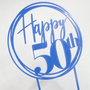 Happy 50th Birthday Cake Topper