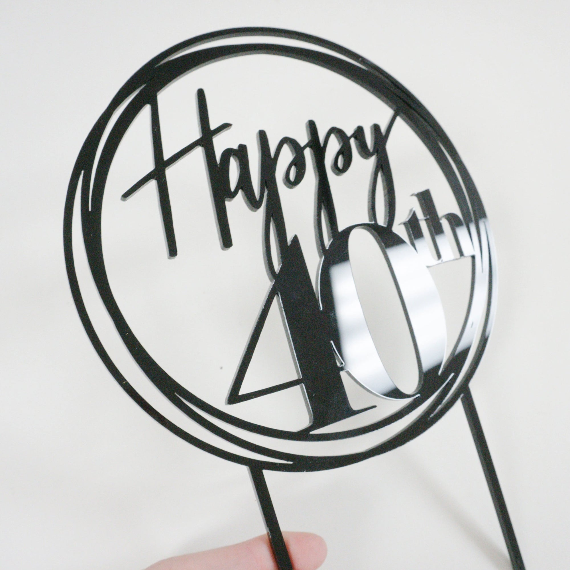Happy 40th Birthday Cake Topper
