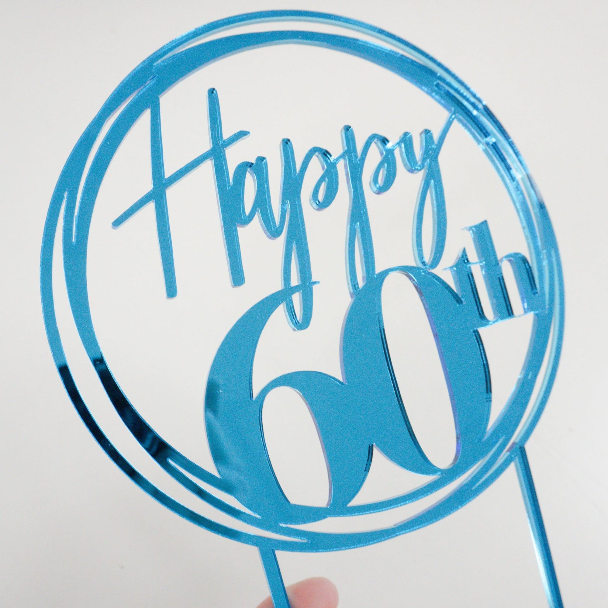 Happy 60th Birthday Cake Topper