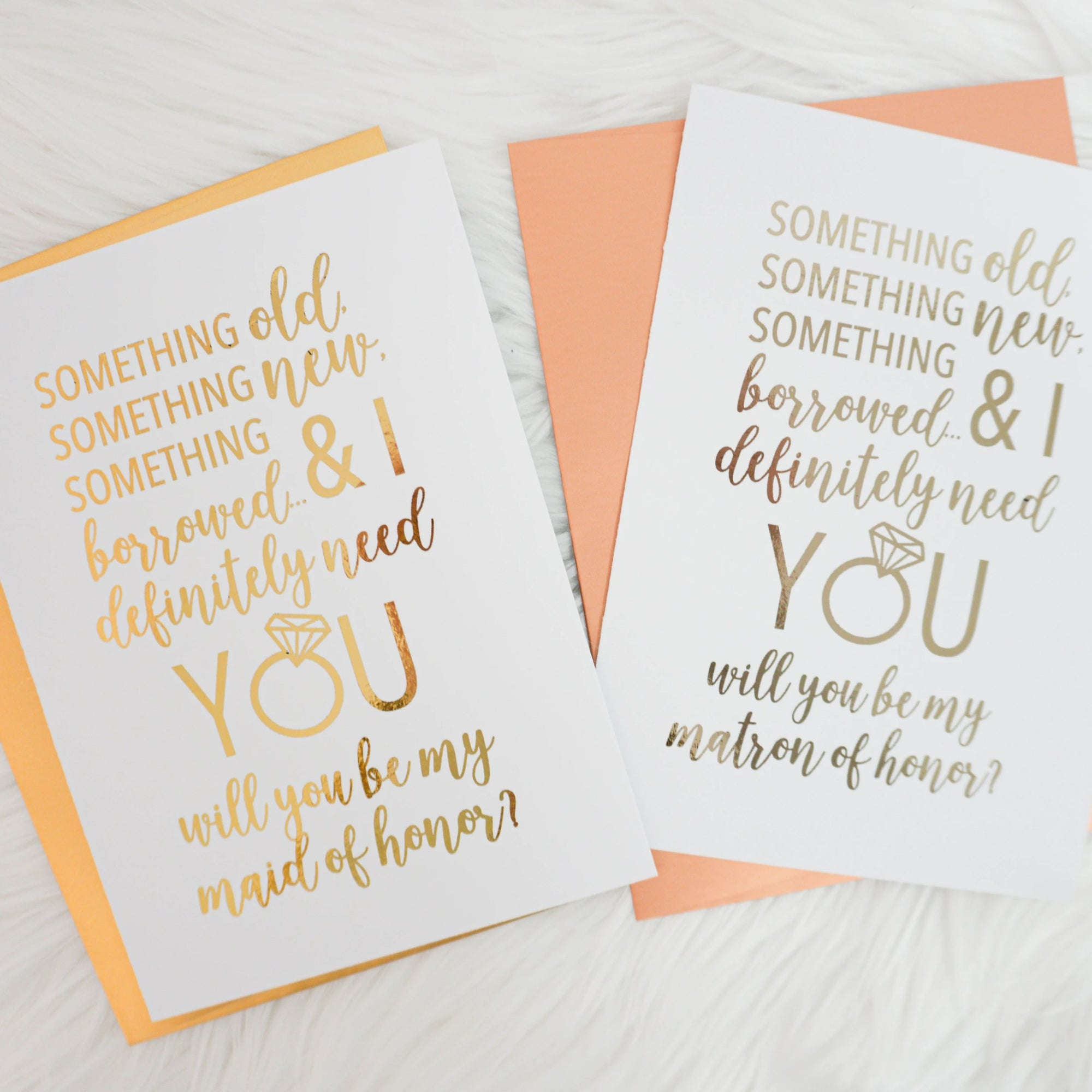Something Borrowed Bridesmaid Proposal Foiled Card & Envelope