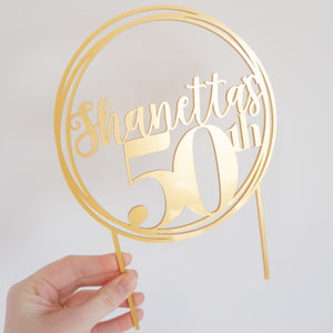Personalized 50th Birthday Cake Topper