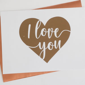 I Love You Foiled Card & Envelope