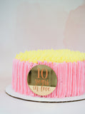 10 Years In Love Anniversary Cake Plaque