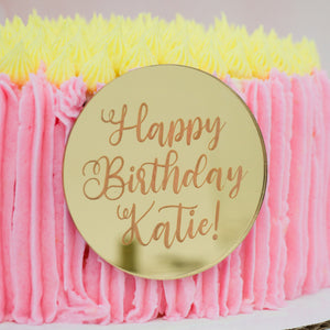 Personalized Happy Birthday Cake Plaque