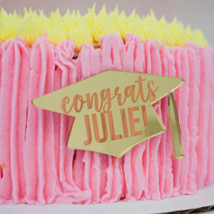 Congrats Graduation Personalized Cake Plaque