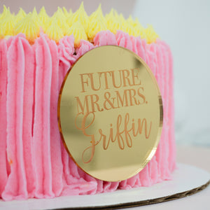 Future Mr and Mrs Personalized Cake Plaque