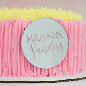 Mr and Mrs Personalized Cake Plaque