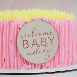 Welcome Baby Personalized Cake Plaque