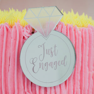 Just Engaged Cake Plaque