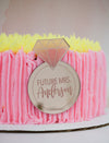 Personalized Future Mrs Cake Plaque