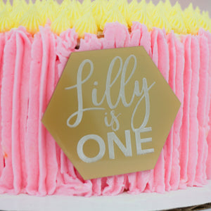 First Birthday Personalized Cake Plaque