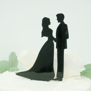Bride and Groom Silhouette Cake Topper