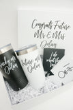 Congrats Deluxe Engagement Gift Box with Polar Camels and Can Coolers
