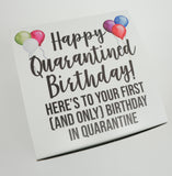 Here's to Your First Birthday in Quarantine Balloon Gift Box