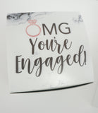 OMG You're Engaged Marble Engagement Gift Box