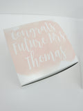 Congrats Future Mrs Pink Engagement Gift Box