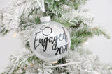 Engaged Glitter Christmas Ornament