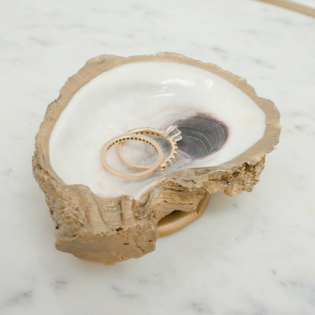 Oyster Jewelry Ring Dish
