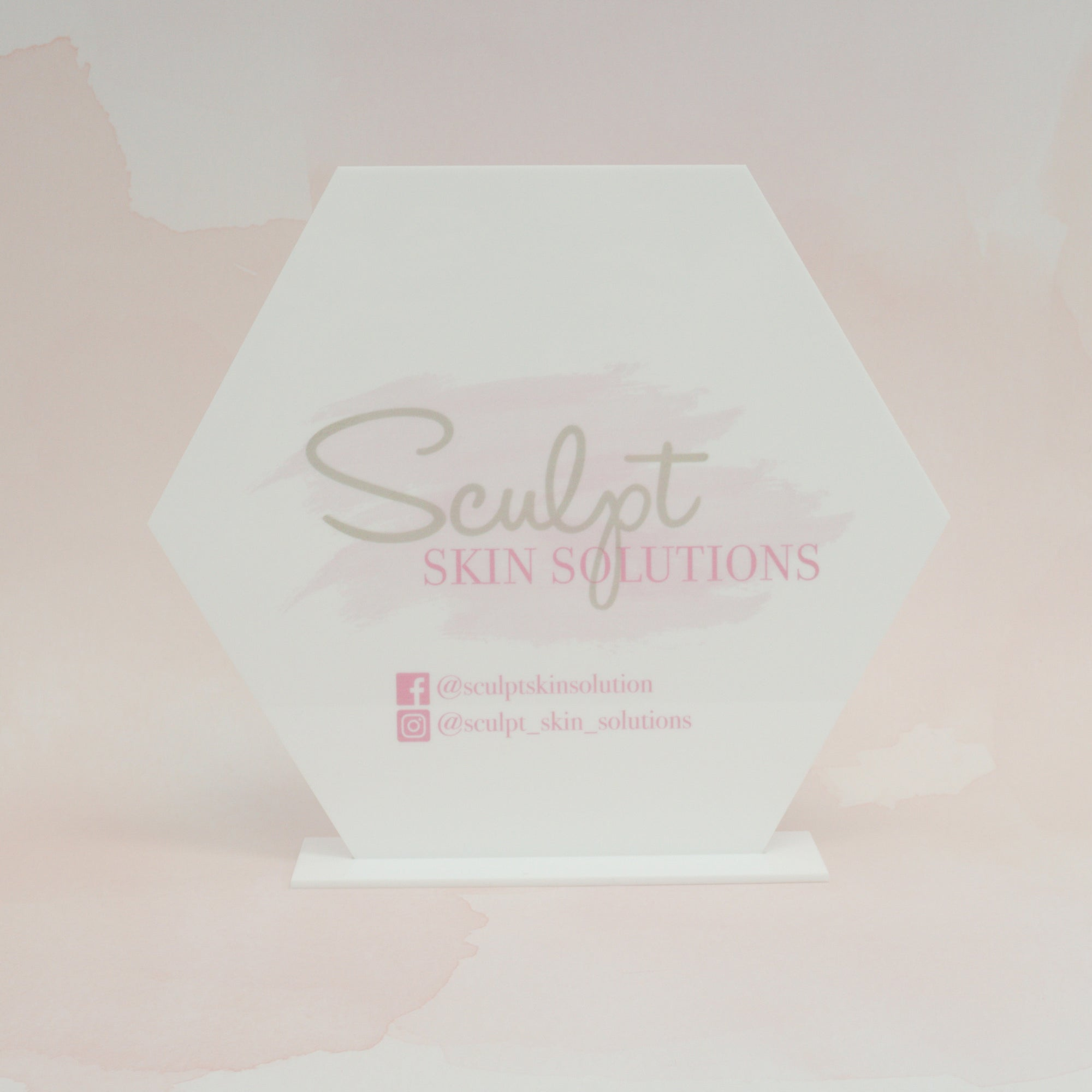 Custom Logo Acrylic Sign for Boutiques & Small Businesses