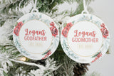 Godparent Personalized Christmas Ornament Set