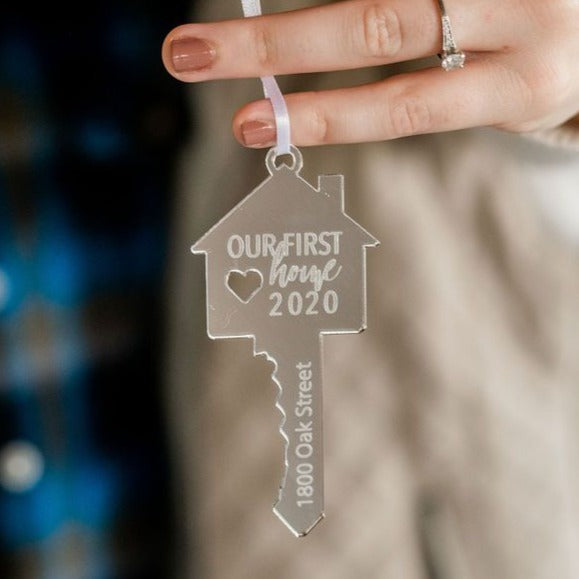 Our First Home Personalized Engraved Christmas Ornament