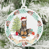 Personalized Doberman Christmas Ornament