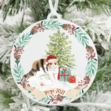 Personalized Exotic Shorthair Cat Christmas Ornament