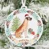 Personalized Great Dane Christmas Ornament