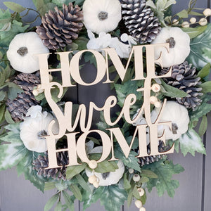 Home Sweet Home Wood Front Door Sign
