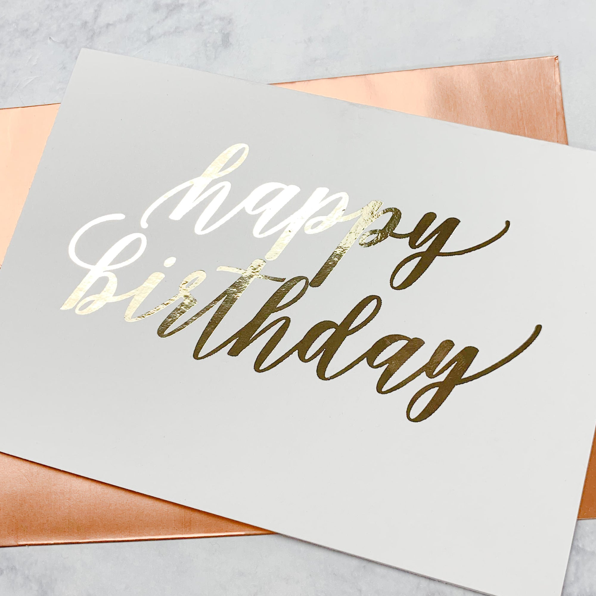Happy Birthday Foiled Card & Envelope