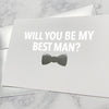 Best Man Proposal Foiled Card & Envelope