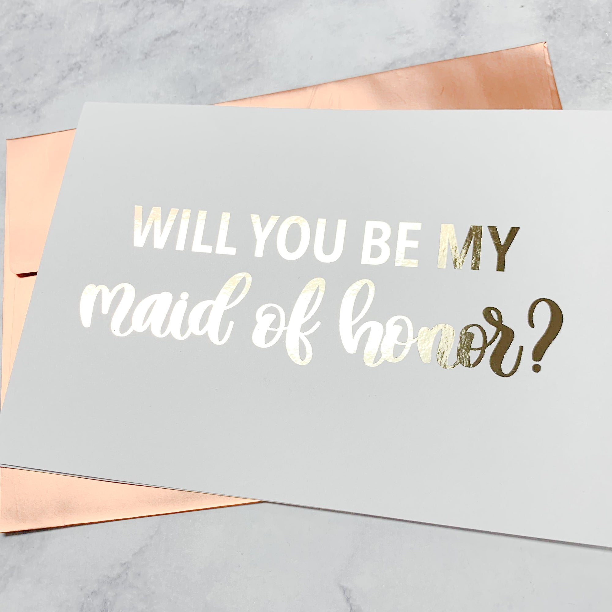 Maid of Honor Proposal Foiled Card & Envelope