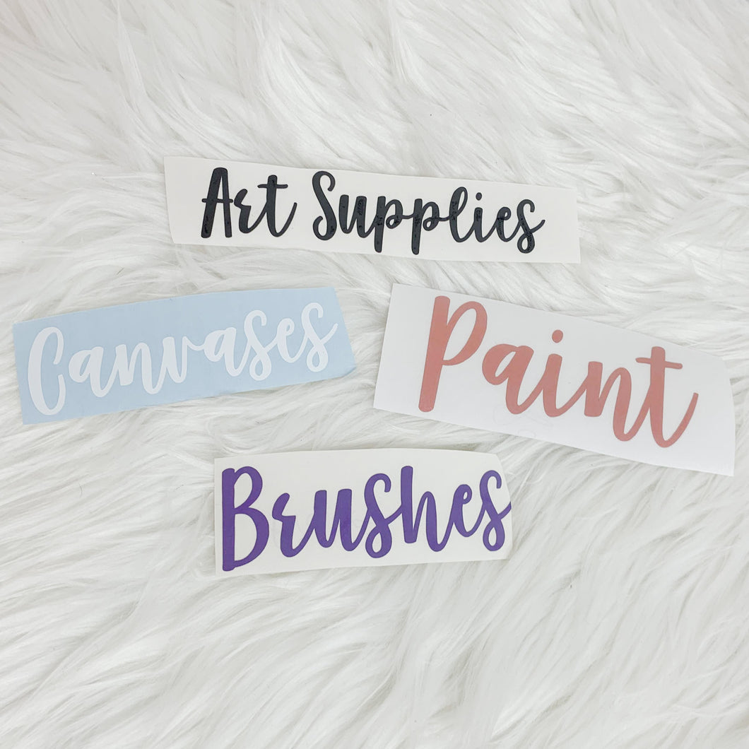 Craft Supply Vinyl Decal Labels