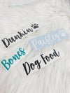 Dog Supplies Vinyl Decal Labels