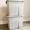 Storage Bin Vinyl Decal Labels