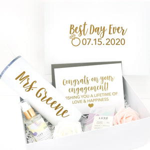 Best Day Ever Engagement Gift Box