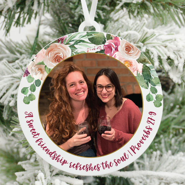 A Sweet Friendship Refreshes the Soul Photo Christmas Ornament
