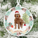 Personalized Labradoodle Christmas Ornament