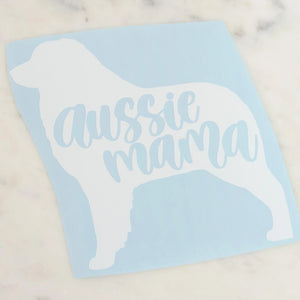 Aussie Mama Australian Shepherd Dog Mom Vinyl Decal