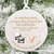 Our Beloved Baby Miscarriage Remembrance Christmas Ornament